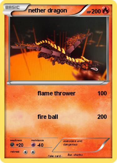 Pok 233 Mon Nether Dragon 17 17 Flame Thrower My Pokemon Card