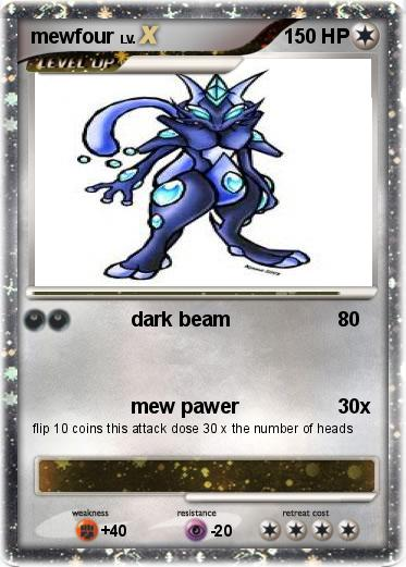 Pokémon mewfour 18 18 - dark beam - My Pokemon Card