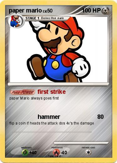 Pokémon paper mario 90 90 first strike My Pokemon Card