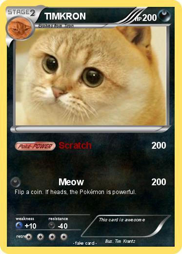 Pokmon TIMKRON Scratch My Pokemon Card