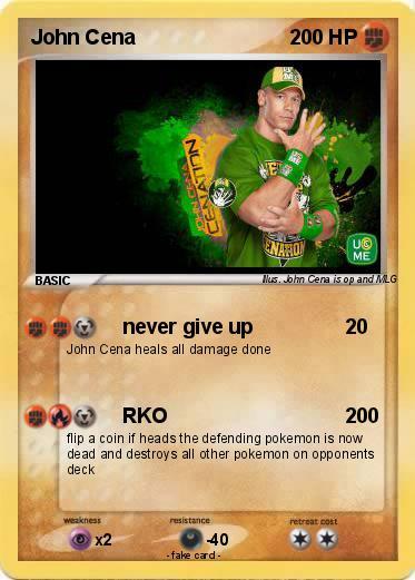 Pok mon john cena 3356 3356 never give up my pokemon card - Pokemon for john gba lite ...