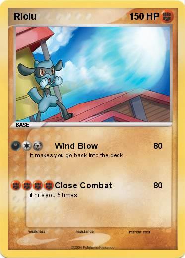 Pokémon Riolu 11 11 - Wind Blow - My Pokemon Card