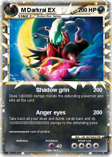 Lx Vs Ex >> Pokémon M Darkrai EX 4 4 - Shadow grin - My Pokemon Card