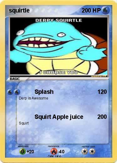 Pok mon squirtle 1171 1171 splash my pokemon card - Derpy squirtle ...