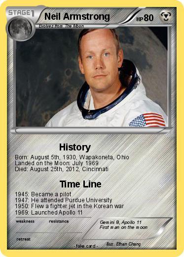 Pokémon Neil Armstrong 15 15 - History - My Pokemon Card