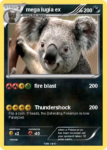 Pokémon mega lugia ex 4 4 - fire blast - My Pokemon Card