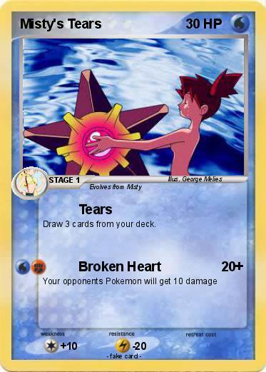 Pokmon Misty S Tears My Pokemon Card
