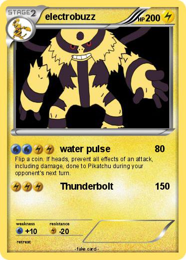 Pokmon Electrobuzz 3 Water Pulse My Pokemon Card