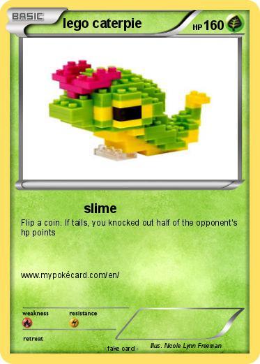 Pokémon lego caterpie - slime - My Pokemon Card