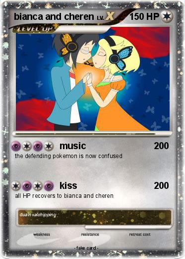 pok233mon bianca and cheren music my pokemon card