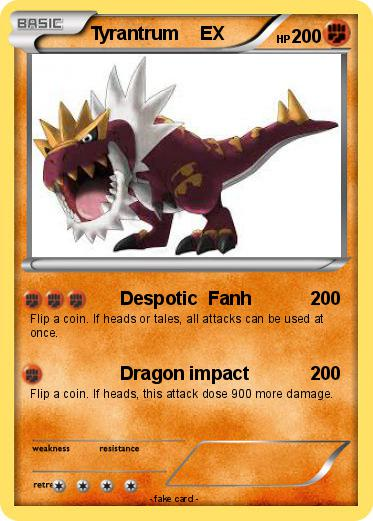 Pokemon Tyrantrum Ex 11