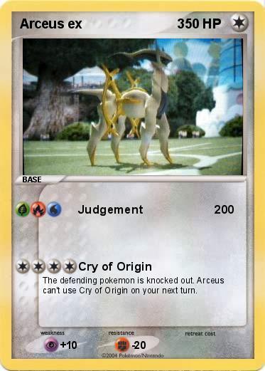 Pok mon arceus ex 3 1 1 judgement 200 my pokemon card - Pokemon arceus ex ...