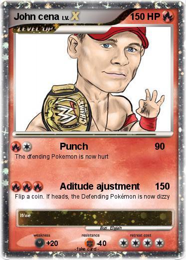 Pok mon john cena 3438 3438 punch my pokemon card - Pokemon for john gba lite ...