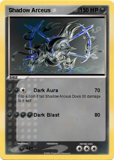 Pokémon Shadow Arceus 1 1 - Dark Aura - My Pokemon Card