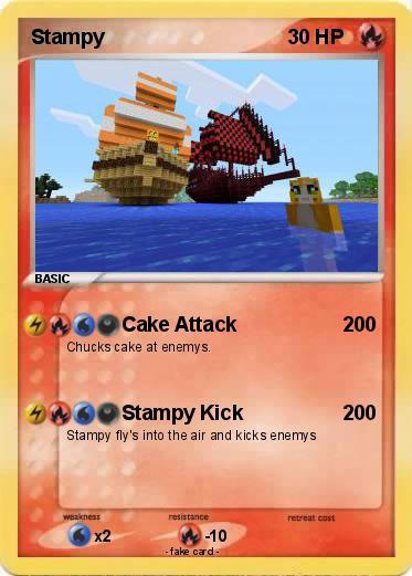 Pok 233 Mon Stampy 41 41 Cake Attack My Pokemon Card