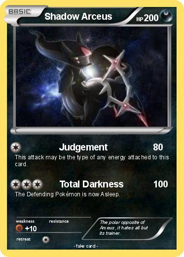 Pokémon Shadow Arceus 100 100 - Judgement - My Pokemon Card