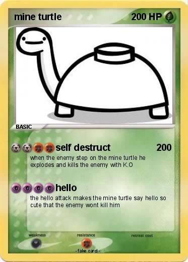 Pokmon Mine Turtle 174 Self Destruct My Pokemon Card