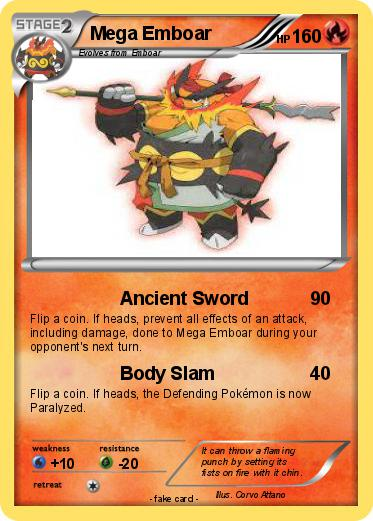 emboar mega evolution card - photo #11