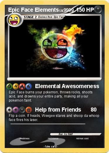 epic face pokemon card