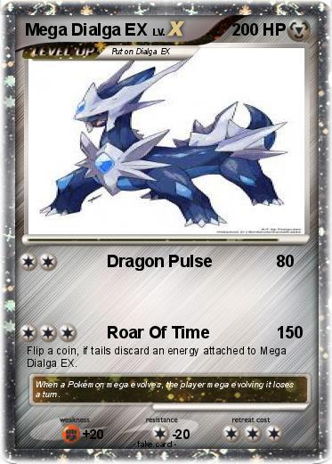 Pokémon Mega Dialga EX 7 7 - Dragon Pulse - My Pokemon Card
