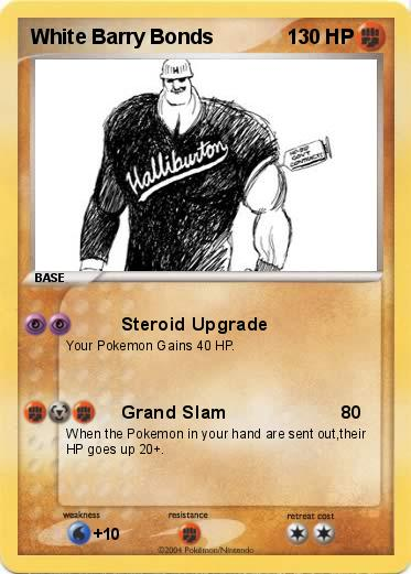 barry bonds steroids pictures. Pokemon White Barry Bonds