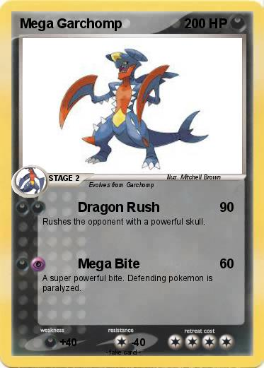 Pokémon Mega Garchomp 5 5 - Dragon Rush - My Pokemon Card
