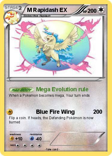 Pokemon M Rapidash Ex 4
