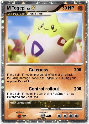 pok233mon m togepi 1 1 cuteness my pokemon card