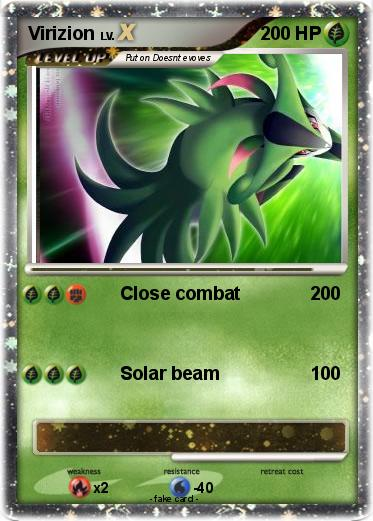 Pokémon Virizion 84 84 - Close combat - My Pokemon Card