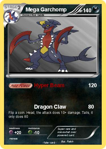 Pokémon Mega Garchomp 23 23 - Hyper Beam - My Pokemon Card