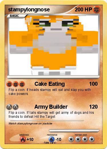 Pok 233 Mon Stampylongnose 9 9 Cake Eating My Pokemon Card