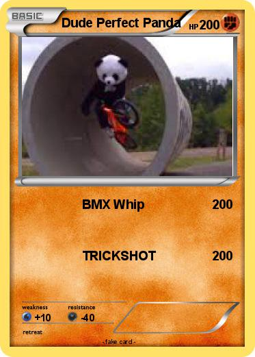 Pok mon dude perfect panda bmx whip my pokemon card for Dude perfect coloring pages