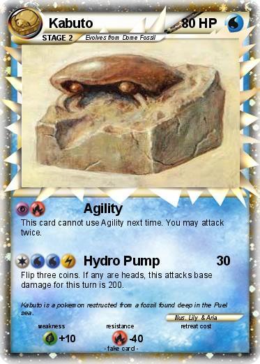 Pokémon Kabuto 68 68 - Agility - My Pokemon Card