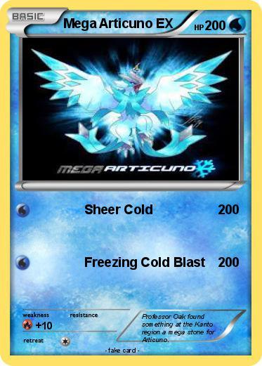Pokémon Mega Articuno EX 1 1 - Sheer Cold - My Pokemon Card