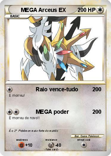 Pok mon mega arceus ex 30 30 raio vence tudo my pokemon card - Pokemon arceus ex ...