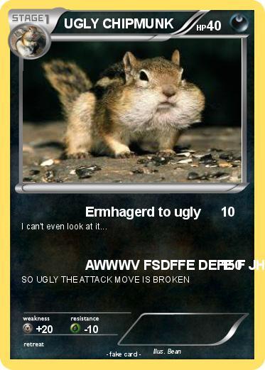 Pokemon Ugly Chipmunk