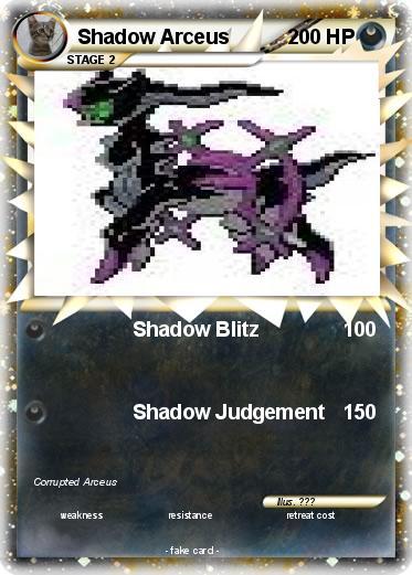 Pokémon Shadow Arceus 79 79 - Shadow Blitz - My Pokemon Card