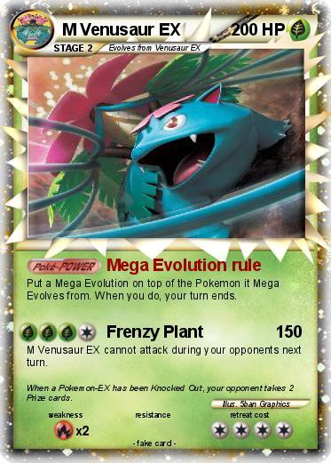 Pok mon m venusaur ex mega evolution rule my pokemon card - Pokemon mega evolution ex ...