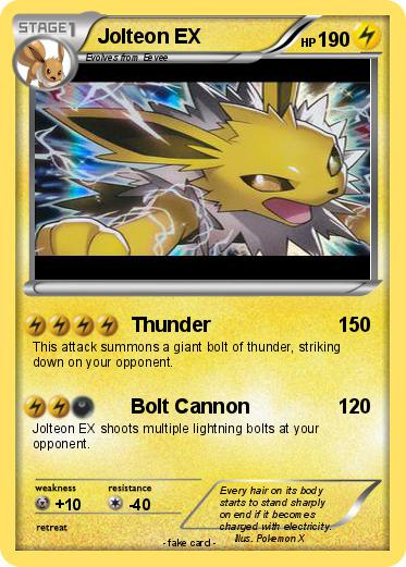 Pokémon Jolteon EX 29 29 - Thunder - My Pokemon Card