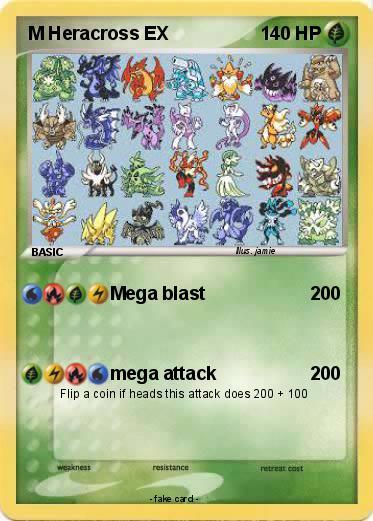 Pokemon M Heracross EX Mega Heracross Card