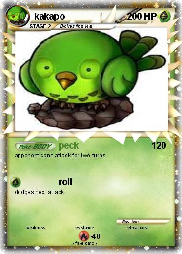 Pokmon Kakapo 2 Peck My Pokemon Card