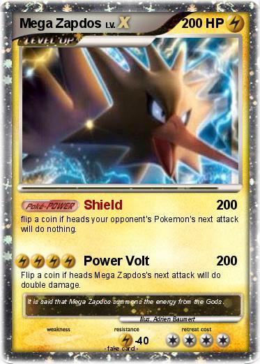 Pokémon Mega Zapdos 11 11 - Shield - My Pokemon Card