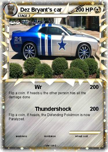 Pokemon Dez Bryant S Car