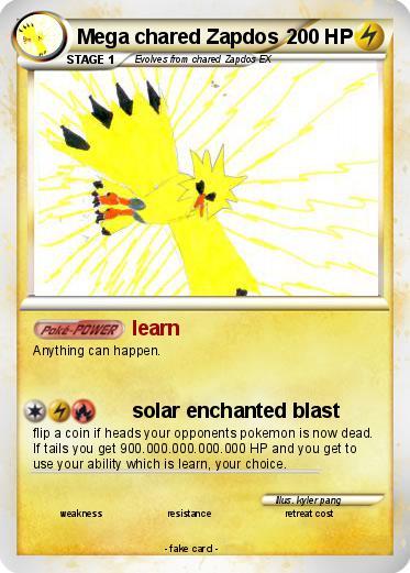 Pokémon Mega chared Zapdos - learn - My Pokemon Card