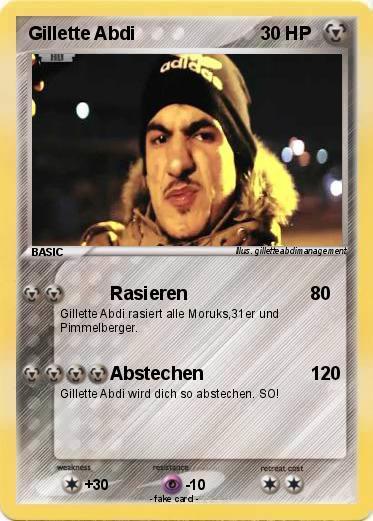 Pok 233 mon gillette abdi 1 1 rasieren my pokemon card