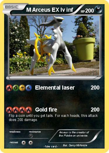 Pok mon m arceus ex lv inf elemental laser my pokemon card - Pokemon arceus ex ...