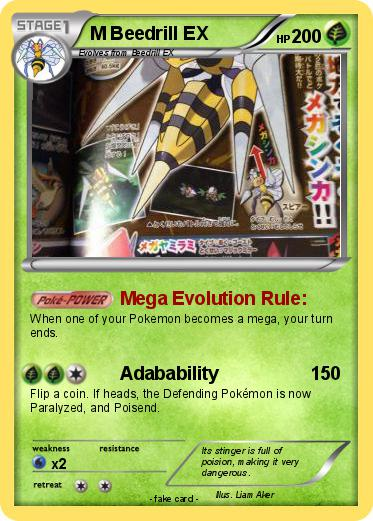 M Beedrill Ex Pokemon M Beedrill EX