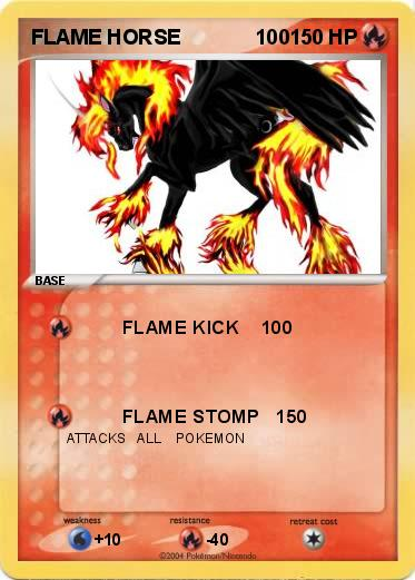Pok 233 mon flame horse 100 100 flame kick 100 my pokemon card