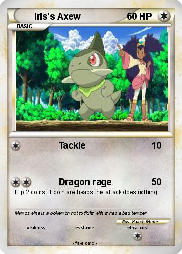 Pokémon Iris s Axew 16 16 - Tackle - My Pokemon Card