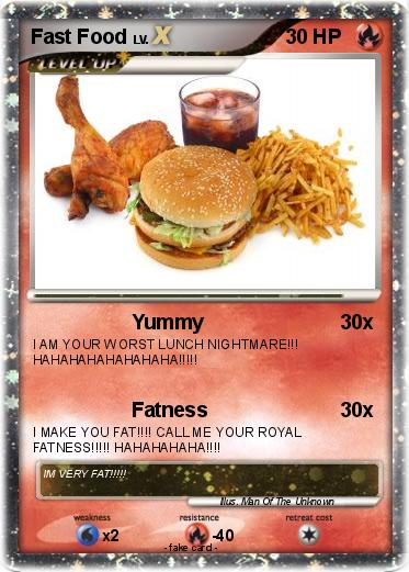 Pok mon fast food 6 6 yummy my pokemon card for Pokemon cuisine